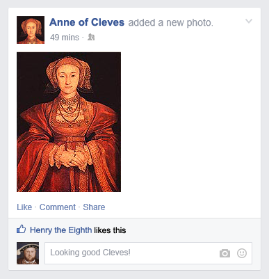 Anne of Cleves Facebook