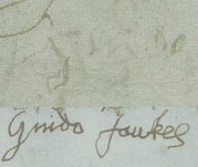 Guy Fawkes' signatures